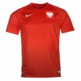 2016 Poland Away Red Soccer Jersey Shirt