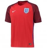2016 England Away Red Jersey Shirt