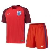 2016 England Away Red Jersey Kit(Shirt+Sort)