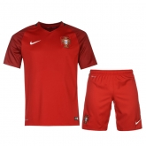 2016 Portugal Home Red Jersey Kit(Shirt+Short)