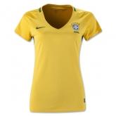 2016 Brazil Home Yellow Women's Jersey Shirt