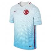 2016 Turkey Away Blue Soccer Jersey Shirt