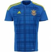 2016 Ukraine Away Blue Soccer Jersey Shirt Replica