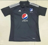 16-17 CD Los Millonarios Away Black Soccer Jersey Shirt