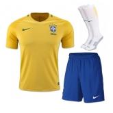 2016 Brazil Home Yellow Jersey Whole Kit(Shirt+Short+Socks)