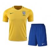 2016 Brazil Home Yellow Jersey Kit(Shirt+Short)