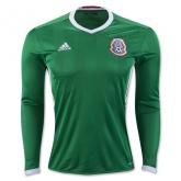 2016 Mexico Home Green Long Sleeve Soccer Jersey Shirt