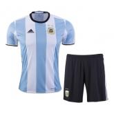 2016 Argentina Home Soccer Jersey Kit(Shirt+Short)
