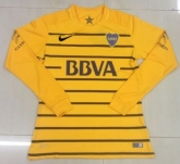 16-17 Boca Juniors Away Yellow Long Sleeve Jersey Shirt