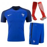 2016 France Home Blue Jersey Whole Kit(Shirt+Short+Socks)