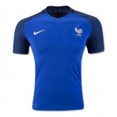 2016 France Home Blue Soccer Jersey Shirt