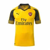 16-17 Arsenal Away Yellow Soccer Jersey Shirt