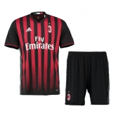 16-17 AC Milan Home Soccer Jersey Kit(Shirt+Short)