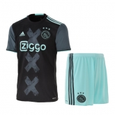 16-17 Ajax Away Navy Soccer Jersey Kit(Shirt+Short)