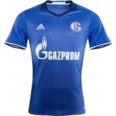 16-17 Schalke 04 Home Blue Soccer Jersey Shirt