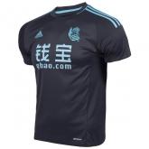 16-17 Real Sociedad Away Black Soccer Jersey Shirt