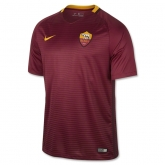 16-17 Roma Home Red Soccer Jersey Shirt