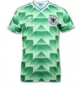 1988-1990 West Germany Retro Away Green Soccer Jersey Shirt