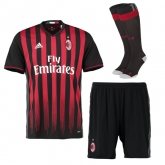 16-17 AC Milan Home Soccer Jersey Whole Kit(Shirt+Short+Socks)