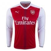16-17 Arsenal Home Long Sleeve Jersey Shirt