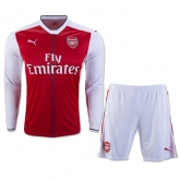 16-17 Arsenal Home Long Sleeve Jersey Kit(Shirt+Short)