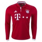 16-17 Bayern Munich Home Long Sleeve Jersey Shirt
