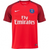 16-17 PSG Away Red Soccer Jersey Shirt