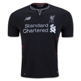 16-17 Liverpool Away Black Soccer Jersey Shirt