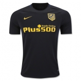 16-17 Atletico Madrid Away Black Soccer Jersey Shirt