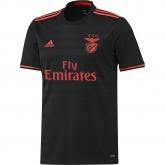 16-17 Benfica Away Black Soccer Jersey Shirt