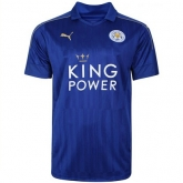 16-17 Leicester City Home Blue Soccer Jersey Shirt