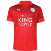 16-17 Leicester City Away Red Soccer Jersey Shirt