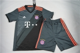 16-17 Bayern Munich Away Black Children's Jersey Kit(Shirt+Short)