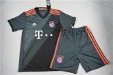 16-17 Bayern Munich Away Black Children's Jersey Kit(Shirt+Short)