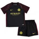 16-17 Manchester City Away Black Children's Jersey Kit(Shirt+Short)