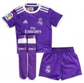 16-17 Real Madrid Away Purple Children's Jersey Whole Kit(Shirt+Short+Sock)