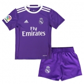 16-17 Real Madrid Away Purple Children's Jersey Kit(Shirt+Short)