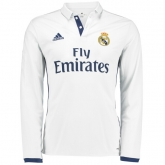 16-17 Real Madrid Home Long Sleeve Jersey Shirt
