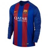 16-17 Barcelona Home Long Sleeve Jersey Shirt