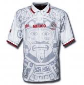 1998 Mexico Retro Away White Soccer Jersey Shirt