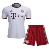 16-17 Bayern Munich Away White Children's Jersey Kit(Shirt+Short)