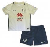 16-17 Club America Home Yellow Children's Jersey Kit(Shirt+Short)