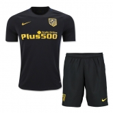 16-17 Atletico Madrid Away Black Children's Jersey Kit(Shirt+Short)
