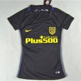 16-17 Atletico Madrid Away Black Womewn's Jersey Shirt
