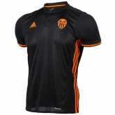 16-17 Valencia Away Black Soccer Jersey Shirt