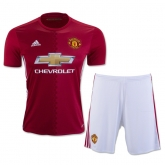 16-17 Manchester United Home Jersey Kit(Shirt+Short)