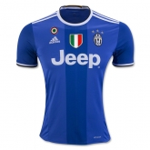 16-17 Juventus Away Blue Soccer Jersey Shirt