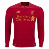 16-17 Liverpool Home Red Long Sleeve Soccer Jersey Shirt