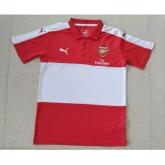 16-17 Arsenal Red&White Polo T-Shirt