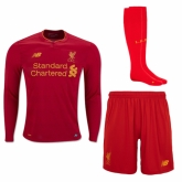 16-17 Liverpool Home Red Long Sleeve Jersey Whole Kit(Shirt+Short+Socks)